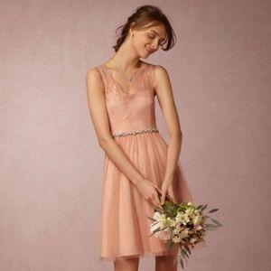 Bridesmaids | BHLDN | Lina Dress | Peach/Pink